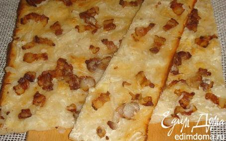 Рецепт Пирог эльзасской кухни (фламменкухен)