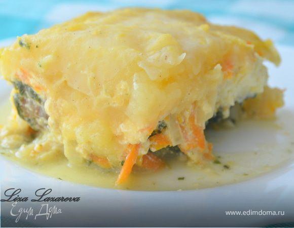 Пирог из рыбы и молодого картофеля от Дж.Оливера