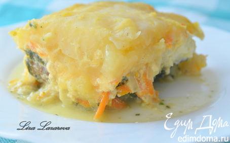 Рецепт Пирог из рыбы и молодого картофеля от Дж.Оливера