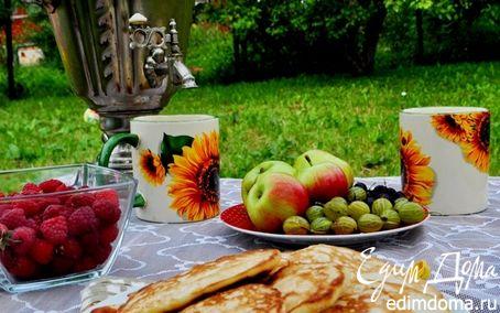 Рецепт Оладьи на кефире с яблоками