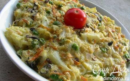Рецепт Овощной пудинг в пароварке