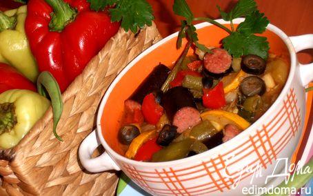 Рецепт Ароматное рагу с колбасками