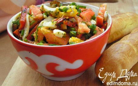 Рецепт Легкий салат с ароматным сладким перцем
