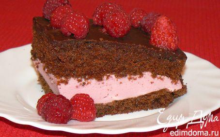 Рецепт шоколадный торт с малиновым суфле