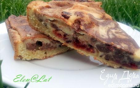 Рецепт Мраморный пирог с вяленой клюквой