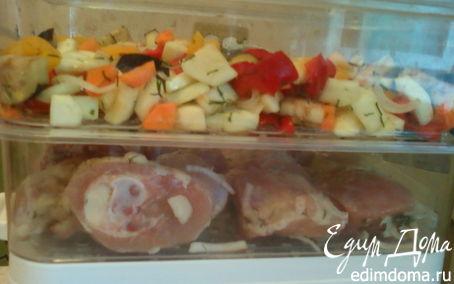 Рецепт Окорочка и овощное ассорти в пароварке в пароварке