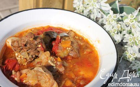 Рецепт Баранина с баклажанами в казане
