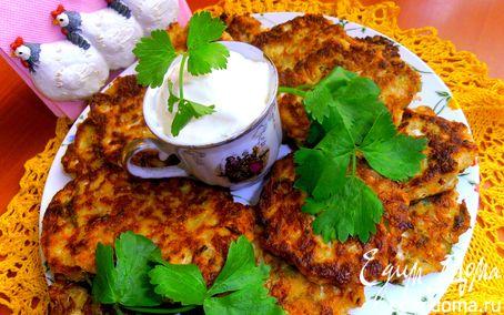 Рецепт Оладушки из китайской капусты с брынзой