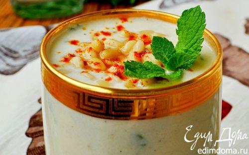 Рецепт Холодный суп-пюре из кольраби с яблоками и кедровыми орешками