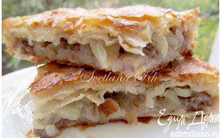 Рецепт Пирог с мясом и картошкой