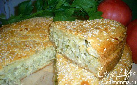 Рецепт Балканский сырный пирог с баклажанами