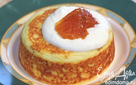 Рецепт Творожная запеканка со сметаной и абрикосовым джемом