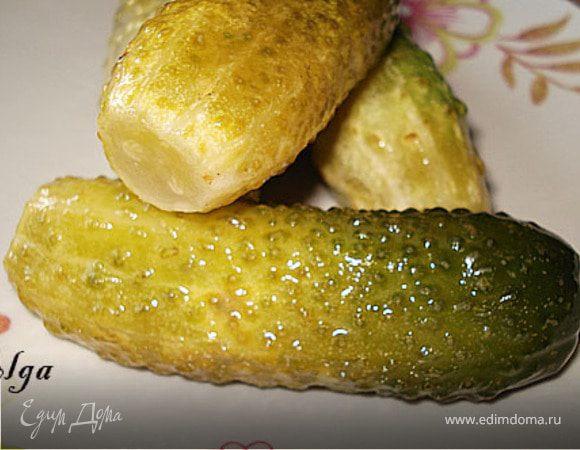 Быстрые маринованные огурцы с лимоном