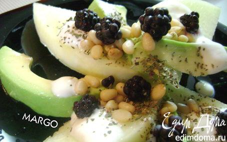 Рецепт Десертный салат из дыни с авокадо
