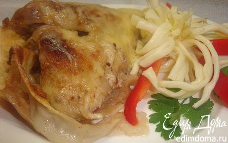 Рецепт Курица на лаваше