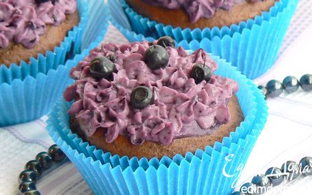 Рецепт Шоколадные черничные кексы