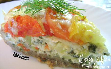 Рецепт Пирог с кабачками, шпинатом и помидорами