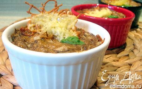 Рецепт Брокколи в сливочно-грибном соусе с сырными чипсами