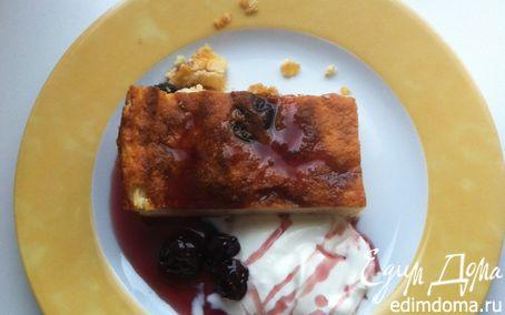 Рецепт Творожная запеканка с манной кашей и изюмом