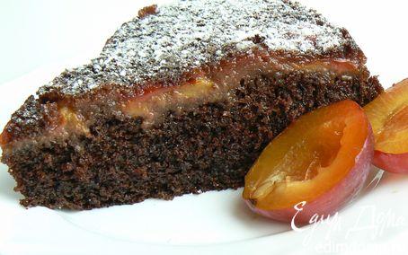 Рецепт шоколадный пирог со сливой