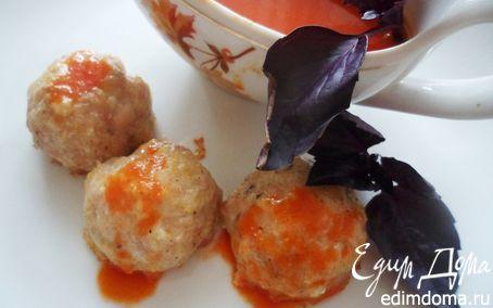 Рецепт Куриные тефтели с базиликом и томатным соусом