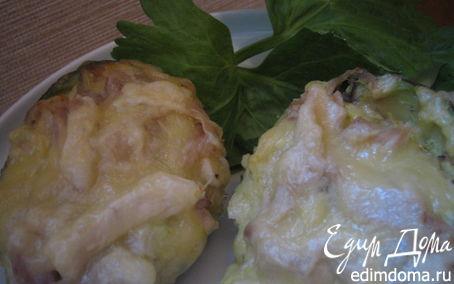 Рецепт Лодочки авокадо, запеченные с курицей
