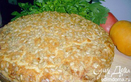 Рецепт Сырно-луковый пирог с баклажанами