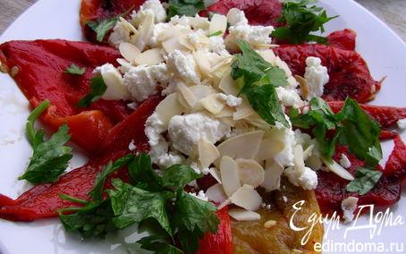 Рецепт Запеченные перцы с фетой и миндалем