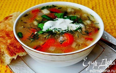 Рецепт Суп куриный с рисом и сезонными овощами