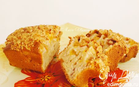 Рецепт Персиковый хлеб со штройзелем из овсяных хлопьев