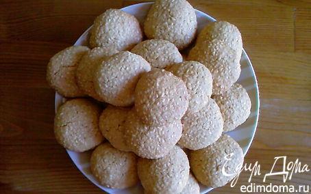 """Рецепт """"Сим-сим"""", очень кунжутное печенье"""