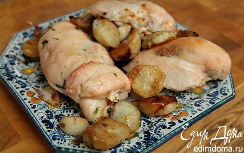 Рецепт Куриные грудки с миндалем и топинамбуром