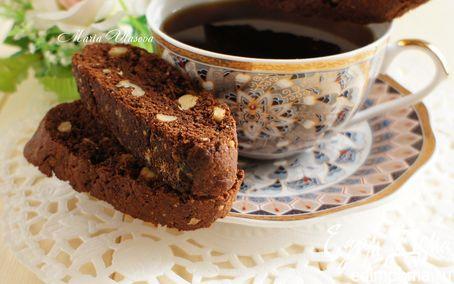 Рецепт Шоколадные бискотти с грецкими орехами