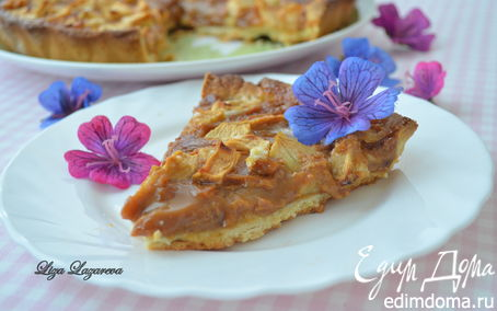 "Рецепт Яблочный тарт ""Ириска"" от Д. Оливера (Toffee apple tart)"