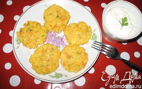 Рецепт Оладьи из пшенной каши с морковью