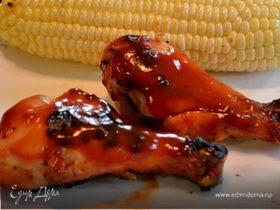 Куриные ножки в сладком барбекю соусе