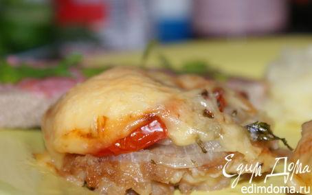 Рецепт Свинина в кляре, запеченная в духовке под сыром