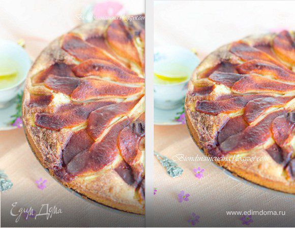 Грушевый пирог с марципаном