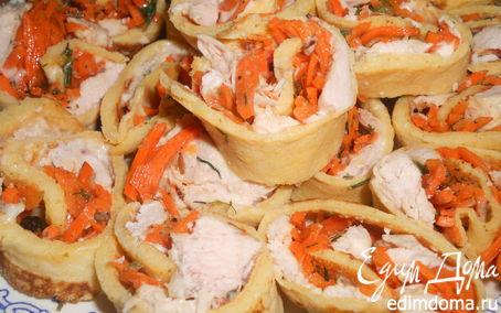 Рецепт Блинчики с корейской морковью