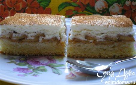 Рецепт Персиковый пирог с кремом