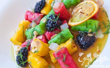 Рецепт Разноцветные ленивые вареники