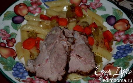 Рецепт Тушеное мясо с чесноком