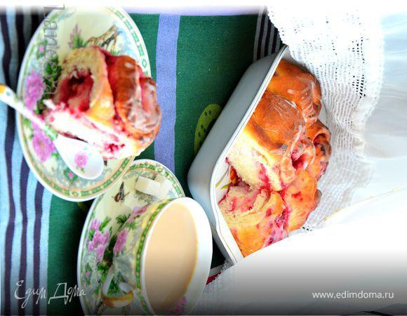 Малиново-лимонные роллы к утреннему кофе