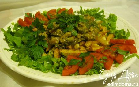 Рецепт Тушеные грибы с курицей