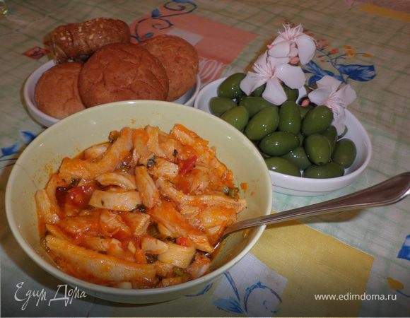 Телячья требуха (Trippa alla fiorentina)