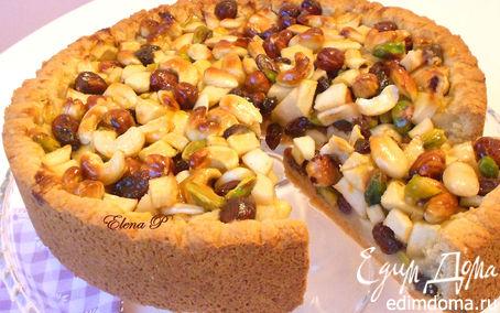 """Рецепт """"Пирог изобилия"""" или яблочно-ореховый флай.(Готовим с """"HomeQueen Corporation """")"""