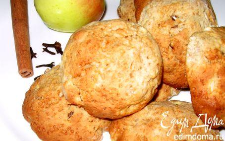 Рецепт Печенье с яблоками и изюмом