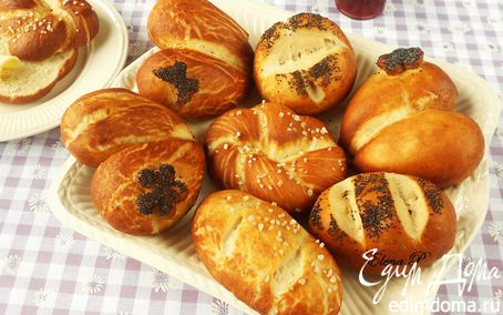Рецепт Немецкие булочки к завтраку.