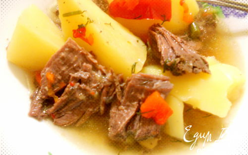 Рецепт простое и вкусное рагу с мясом гуся