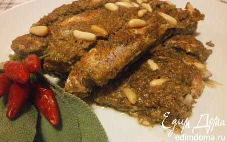 Рецепт Барабулька (султанка) по - ливорнийски